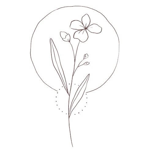 Whimsical flower icon